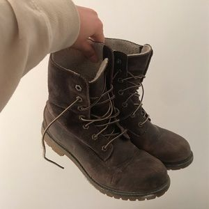 Brown Timberland Winter Boots